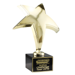 Gouden ster-award op sokkel