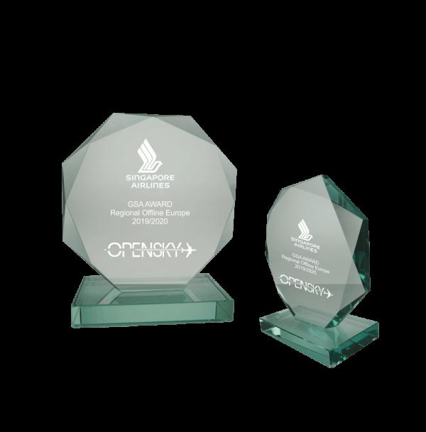 Glazen award Shopping awards