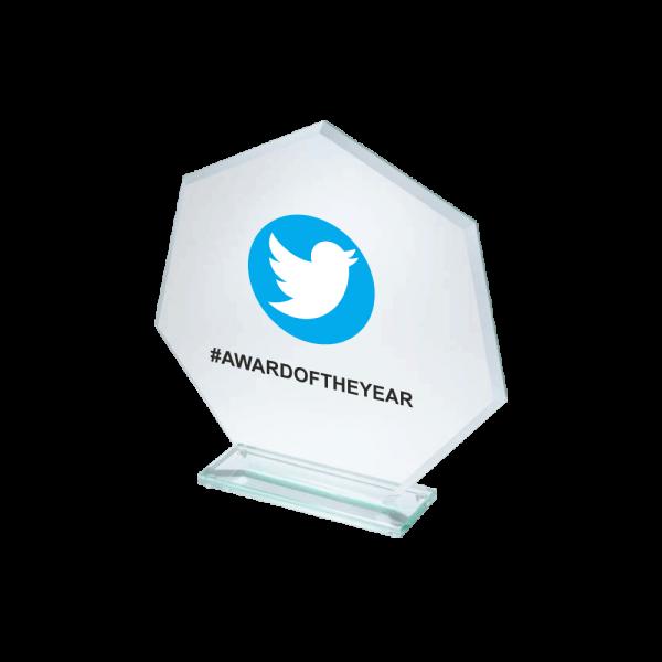 Award met logo trofee met naam