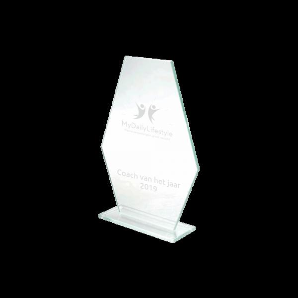 Glazen trofee recognition award