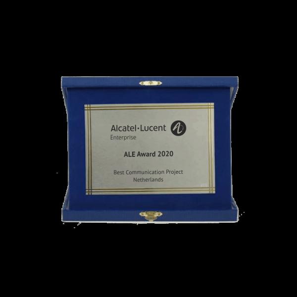 Award blauw met goud