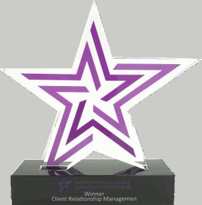 Custom made award door trofee award in ster vorm